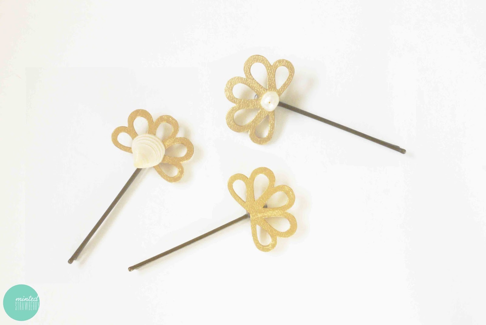 diy: paper earrings/hairpin - minted strawberry