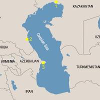 Caspian sea map