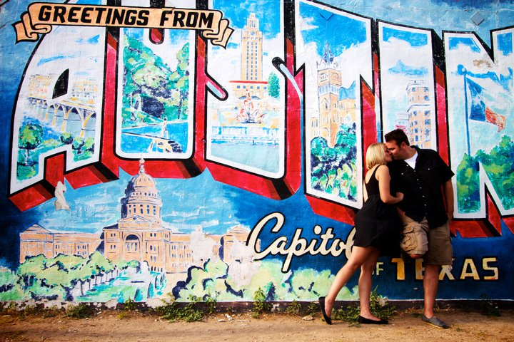 Sweet and sour showers austin weddings for Austin postcard mural