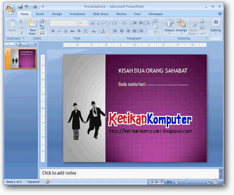 Cara Membuat Gamabar Power Pointer