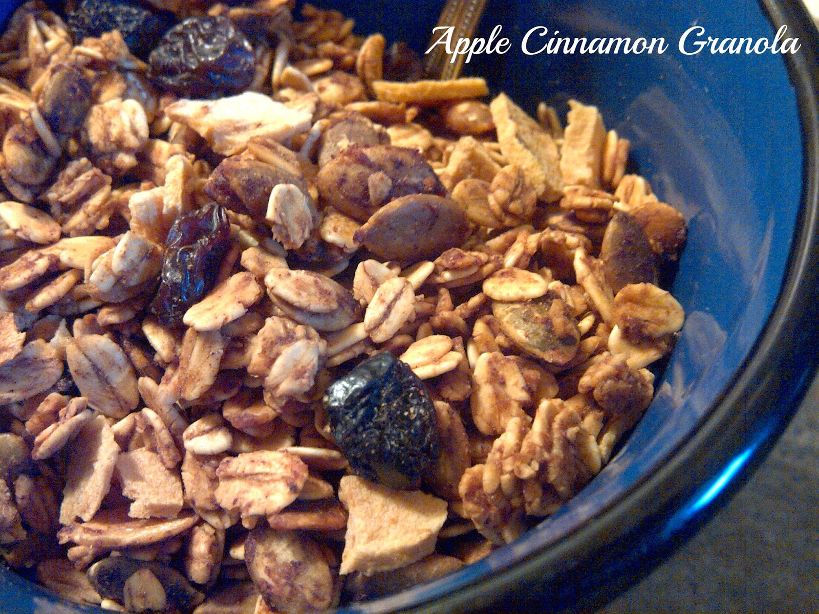 **If using gluten free oats, you can make ** ===> Apple Cinnamon Granola