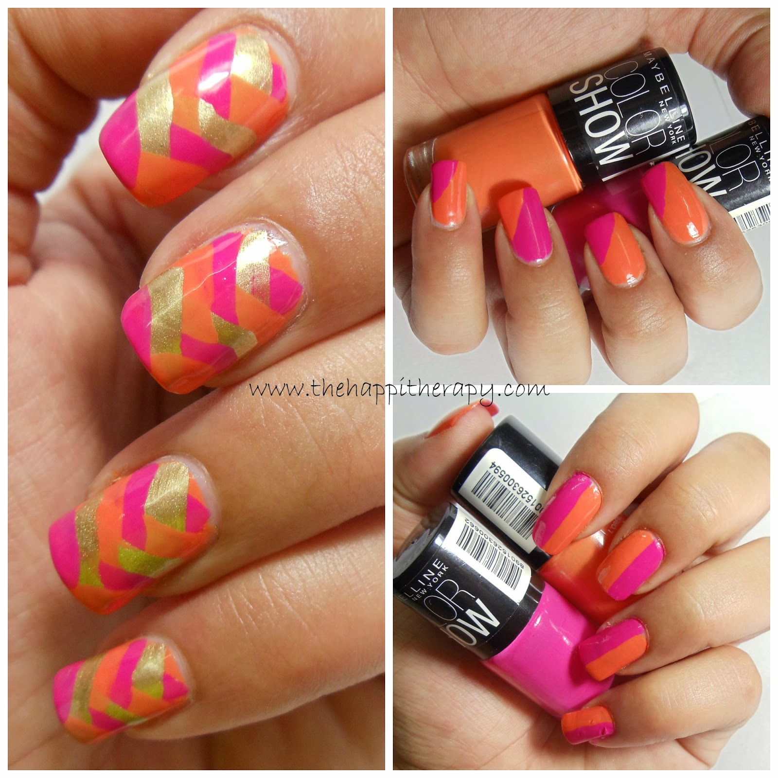 The Happi Therapy: Maybelline Colorshow Nail Art Ideas