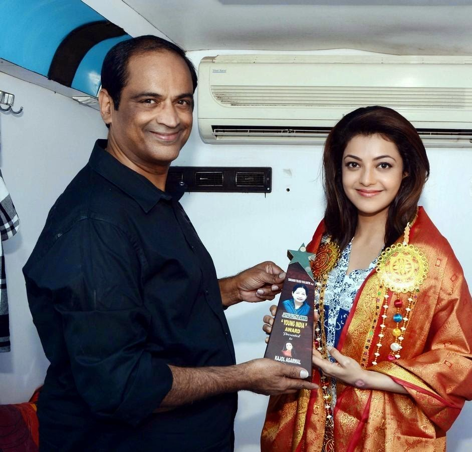 kajal at amma young india awards