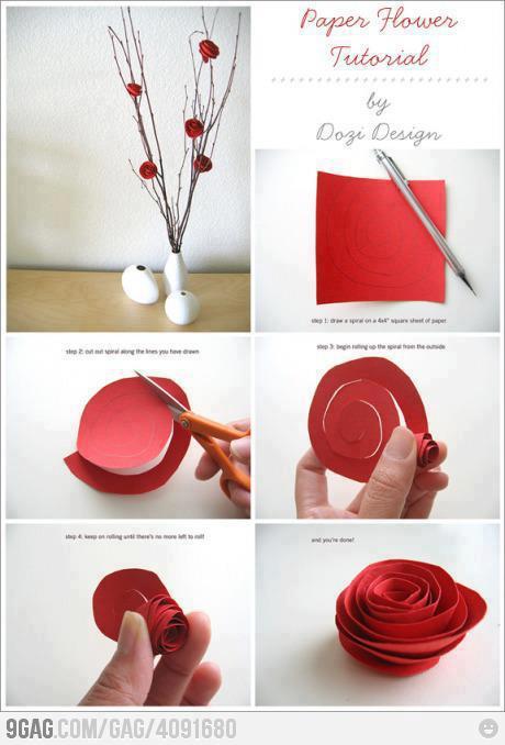 Bunga Ros dari Kertas