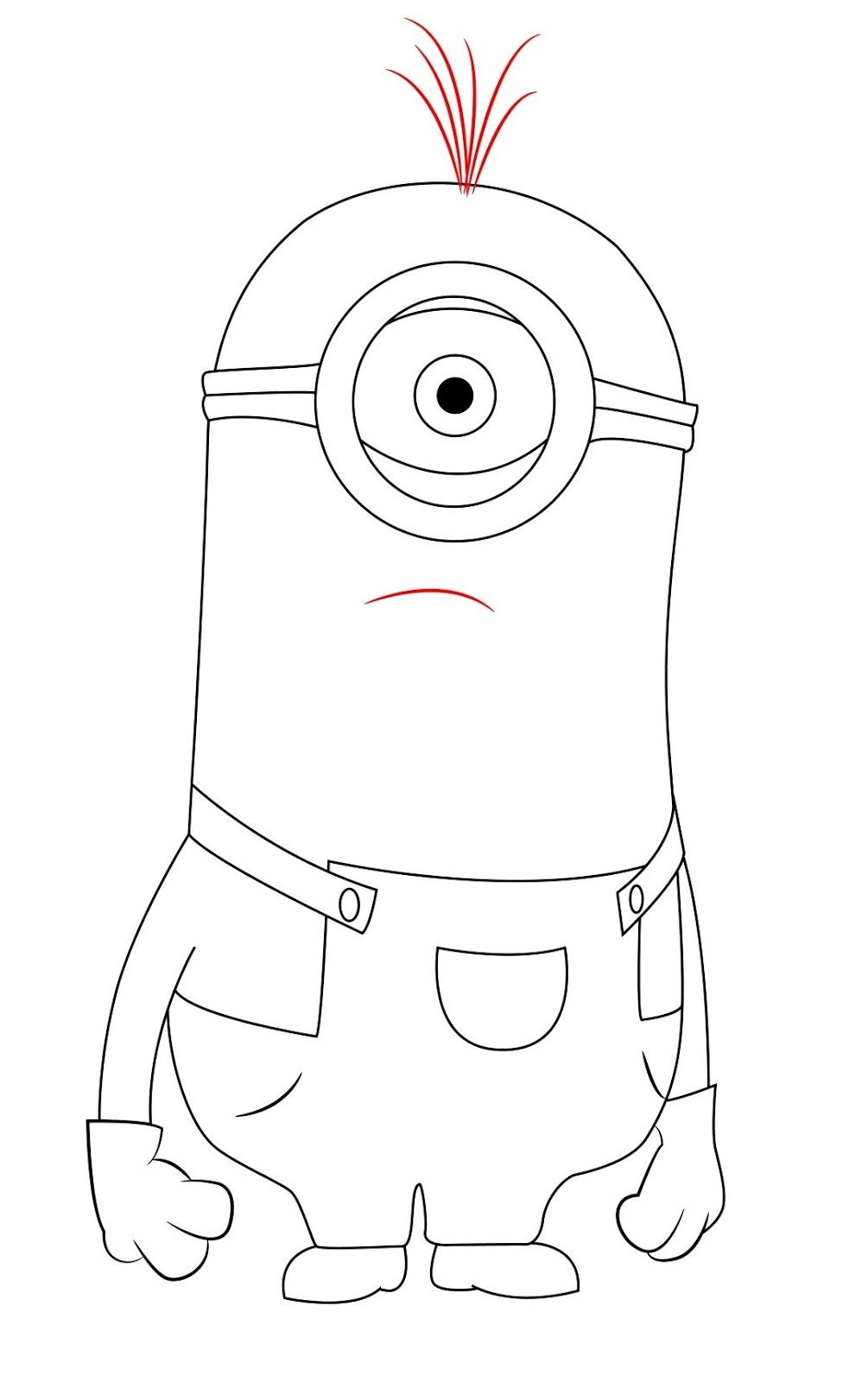 Finally, give your minion a few hairs on the top of his head, and a ...