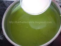 Supa crema de mazare cu lapte preparare