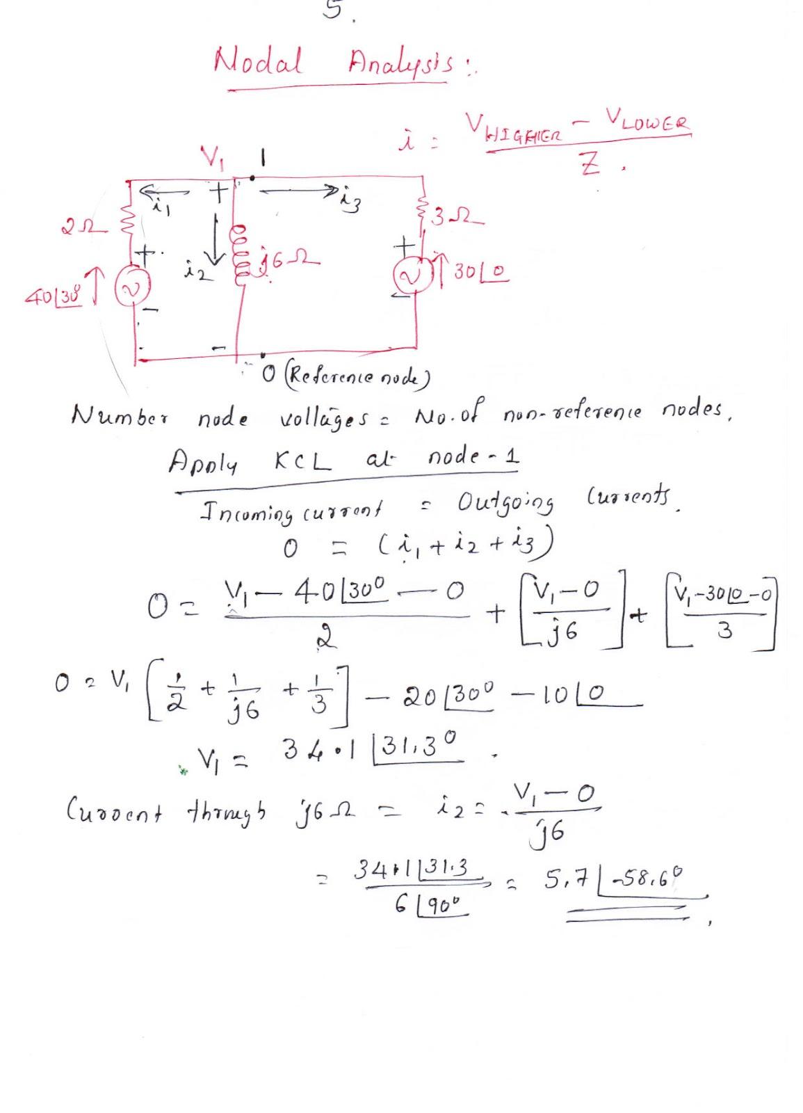 Electrical Machines Lecture Notes 1 Electronic Circuit Analysis Jntu
