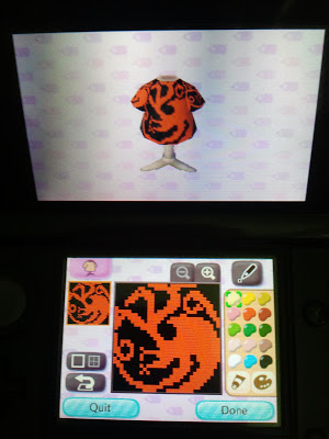Animal Crossing New Leaf Targaryen Pattern