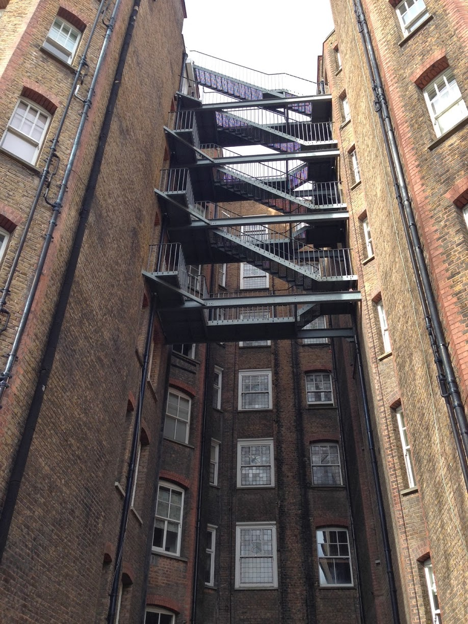 Back of flats, Oakwood Court, London W14