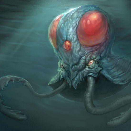 Andrew Olson ilustrações digitais fantasia arte conceitual Tentáculos