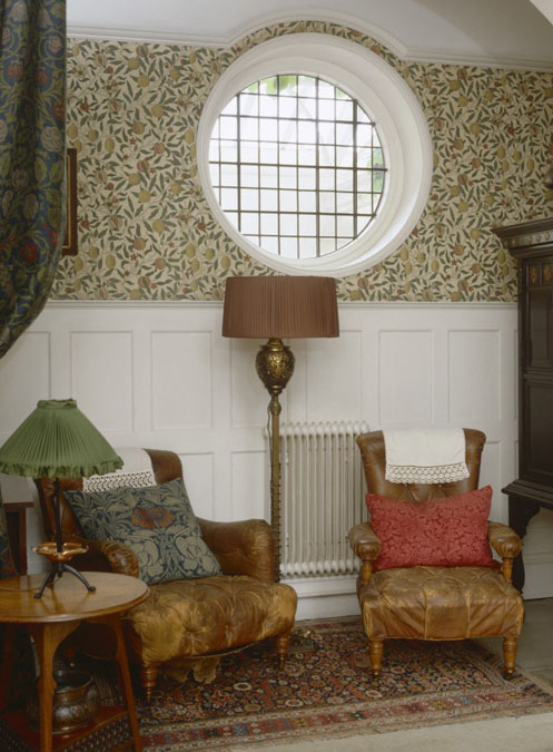 standen is dressed to look as it did in featuring the morris wallpapers rugs and details