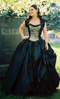 Dark Green Vitorian Steampunk Gothic Prom Dresses