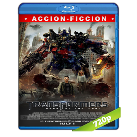 Transformers 3 El Lado Oscuro De La Luna HD720p Lat-Cast-Ing 5.1 (2011)