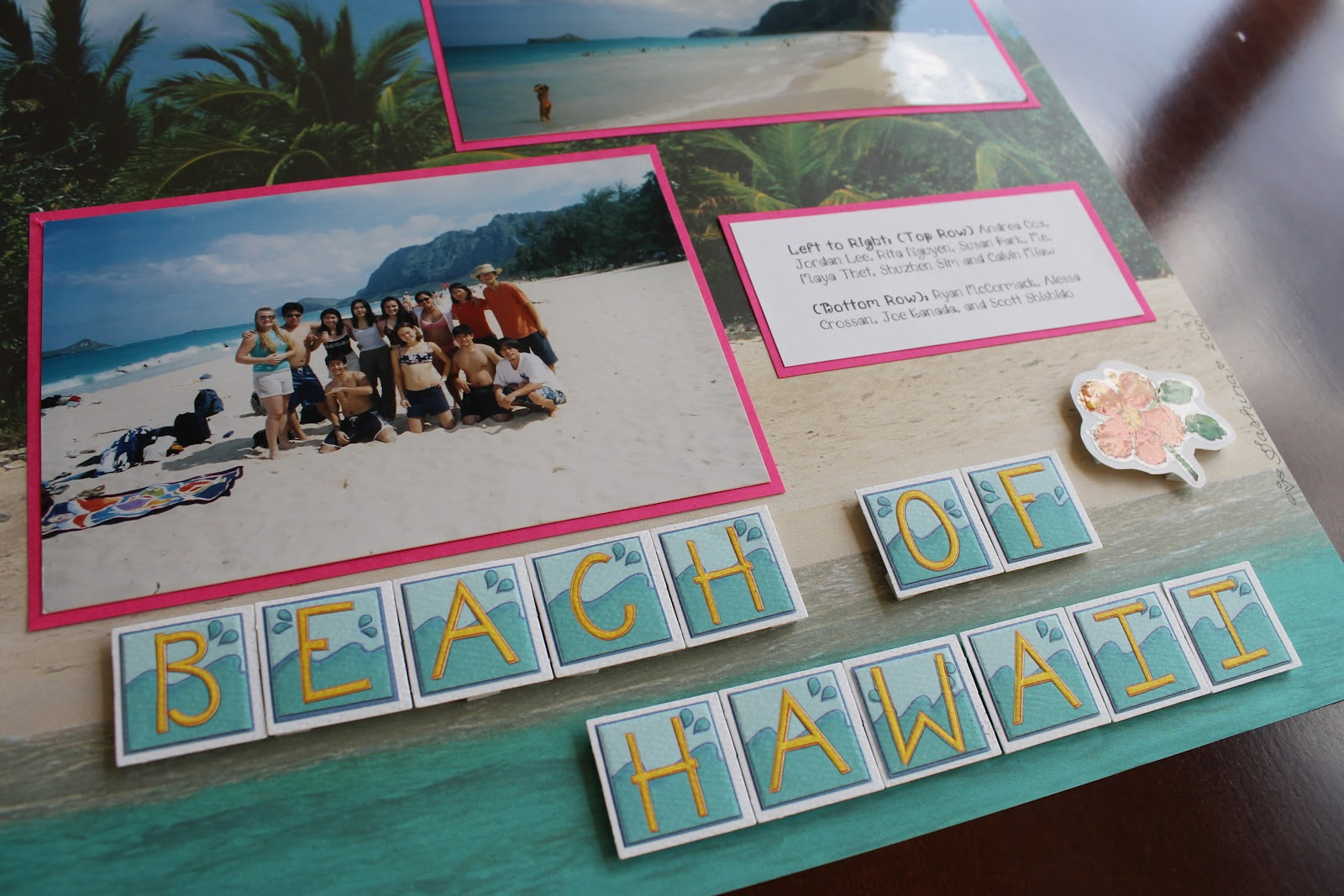 Scrapbook ideas hawaii - Hi Friends Here Is Another Tropical Layout For You The Title Is From A Hawaiian Song