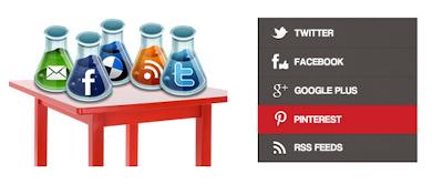 Renk Efektli Sosyal Paylaşım Sitesi Butonları