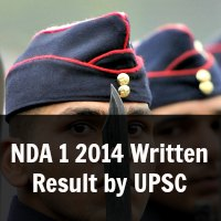 NDA 1 2014 Written Result by UPSC