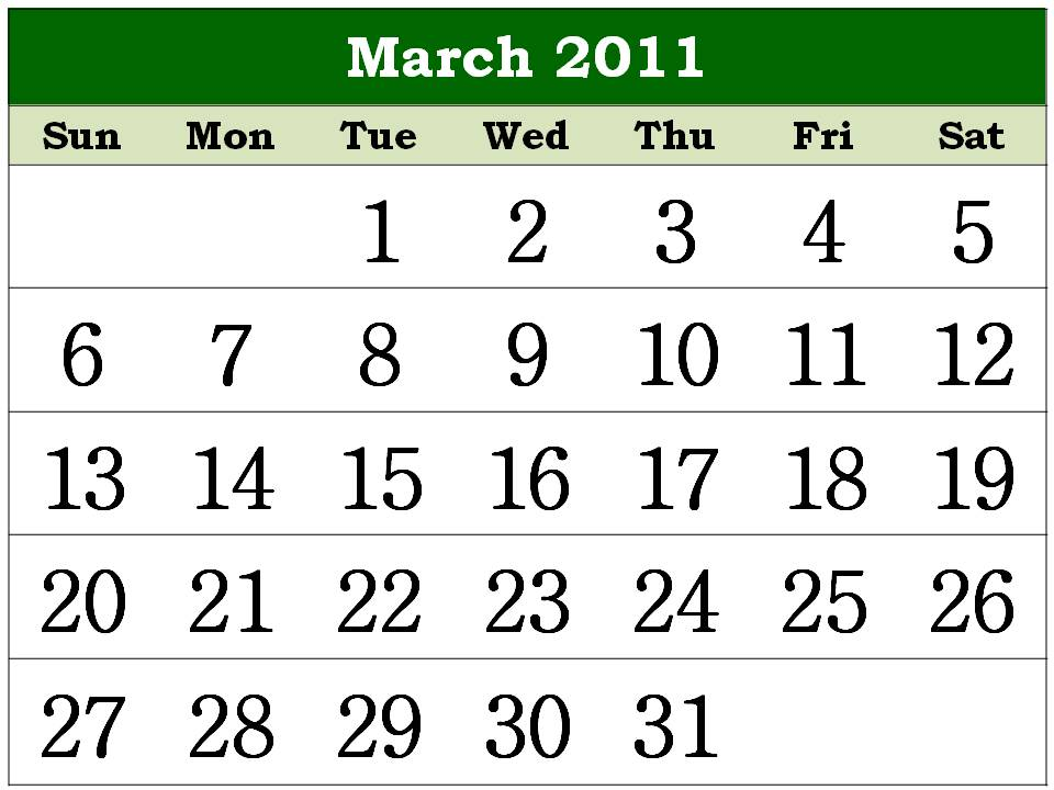 wallpaper 2011 calendar march. 2010 blank march 2011