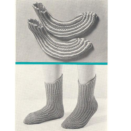 Knit Boot Socks Pattern : Vintage Knit Crochet Pattern Shop: Socks Mittens Accessories to Knit & Cr...