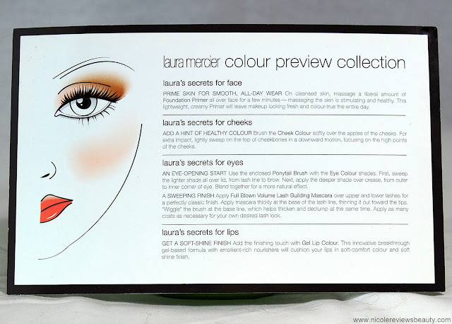 Laura Mercier Colour Preview Collection How To Card