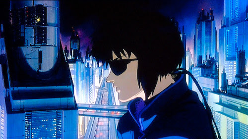 Computer hacker wearing sunglasses in Ghost in the Shell 1995 animatedfilmreviews.blogspot.com