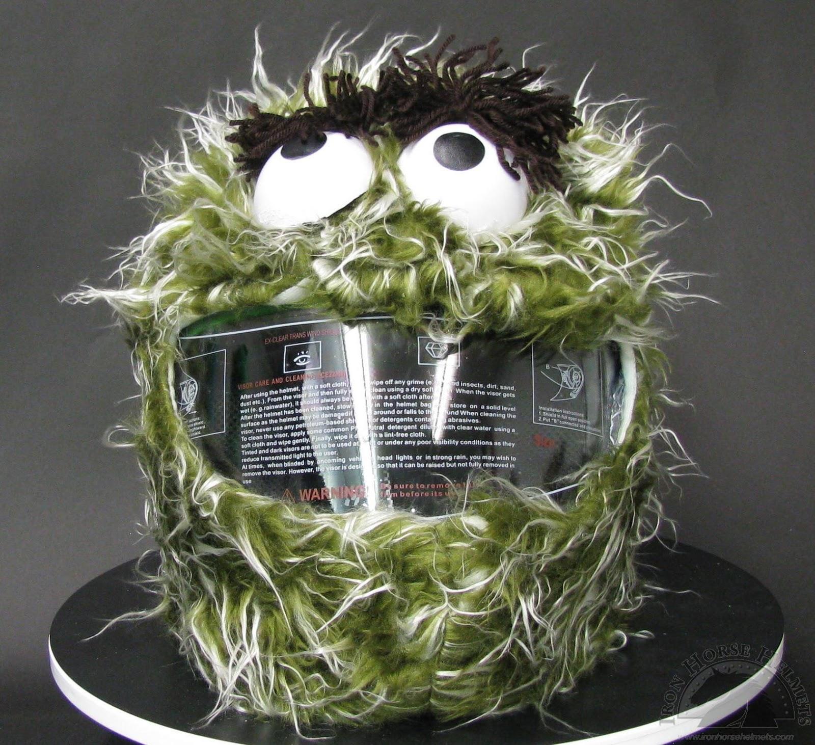 Oscar The Grouch Helmet Cover