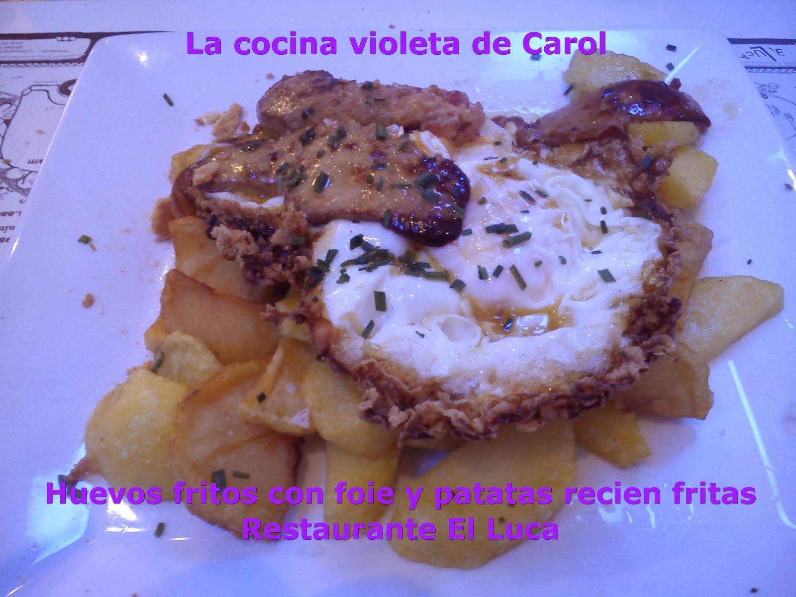 La cocina violeta de carol restaurante el luca sergio for La cocina de sergio