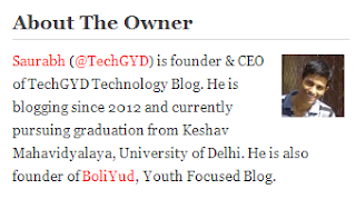 short bio of author of techgyd