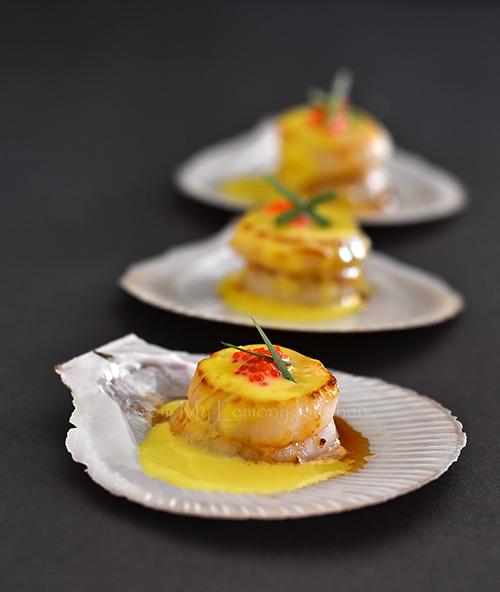 saffron-scallops