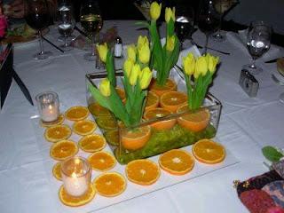 Centros de Mesa con Naranjas, parte 2