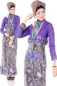 poto dress batik remaja muslim terbaru