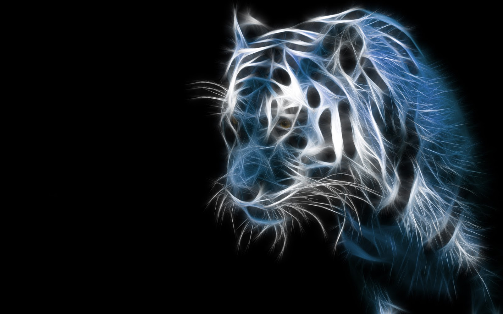 Tigre 3d fonds d 39 cran hd for Fond ecran 3d