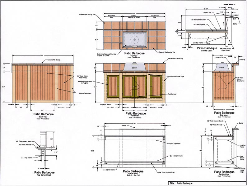 Outdoor Kitchen Blueprints Of Outdoor Kitchen Plans Pictures Of Kitchens