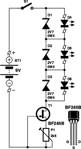 led tester circuit diagram