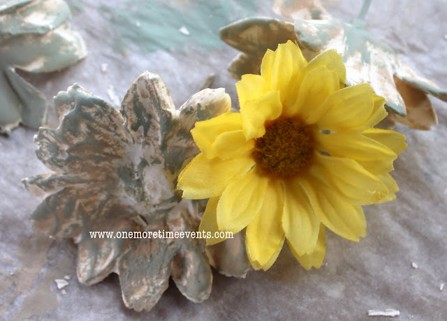 How To Make Plaster of Paris Flowers Before and After at One More Time Events.com