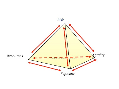 quadruple constraints of risk management