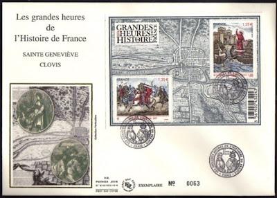 l 39 enveloppe 1er jour plus qu 39 un timbre fdc les grandes heures de l histoire de france. Black Bedroom Furniture Sets. Home Design Ideas