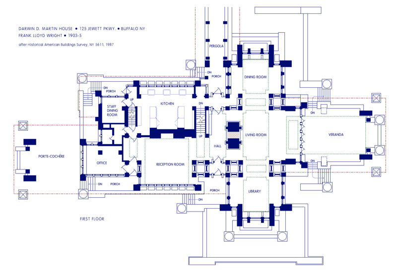 Darwin d martin house plans House design plans