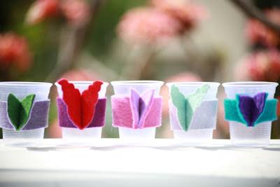 decorar vasos para una fiesta