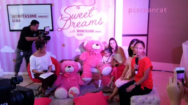 Host Gelli Victor, Scarlett and Cheska Garcia-Kramer, Brand Manager Jinni Fernando, and Dr. Yamat.
