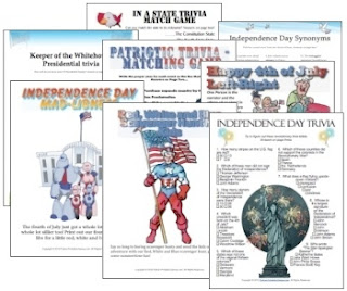 image regarding 4th of July Trivia Printable called 4th of July Celebration Video game Pack via Python Printable Online games Study