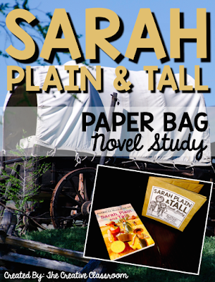 Sarah Plain and Tall Paper Bag Novel Study