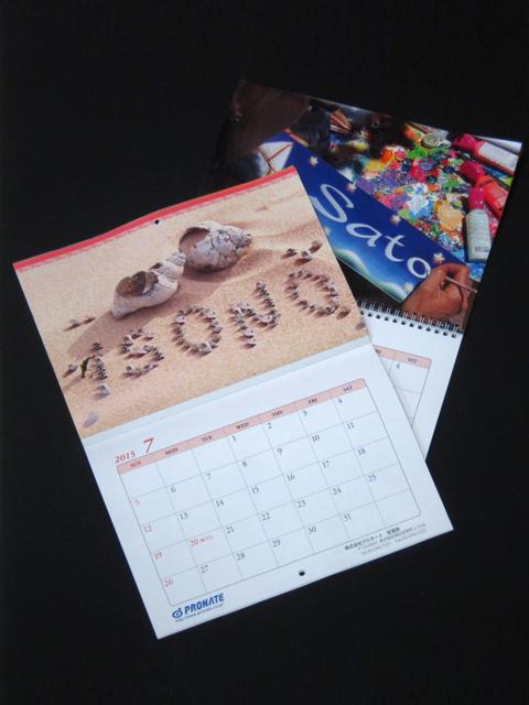 壁掛けタイプの「UniSnap」カレンダーの写真