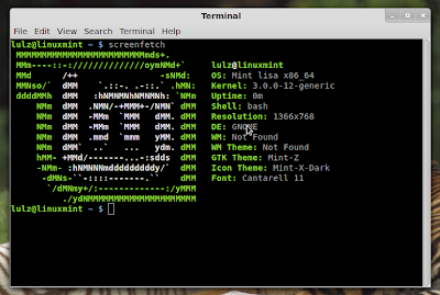 screenfetch linux mint