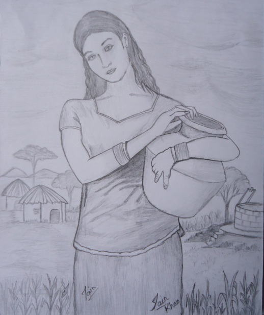 Pencil Sketches U0026 Painting  India Women Sketch