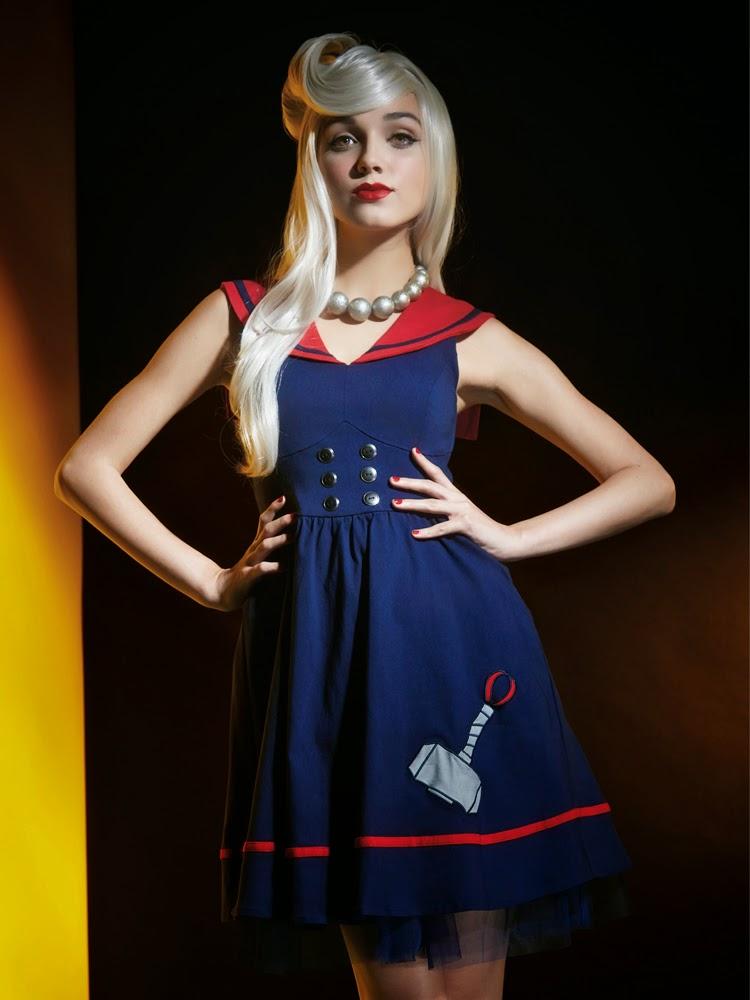 Marvel lança roupas femininas inspiradas nos Vingadores - Vestido Thor