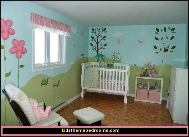 Decorating theme bedrooms maries manor baby girl garden Baby girl decorating room