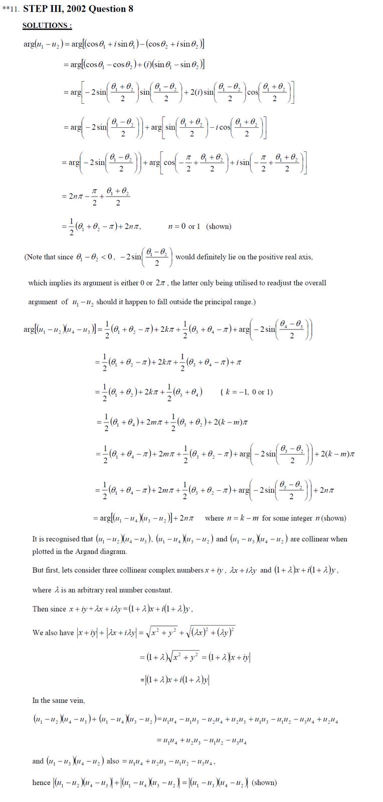 Sixth term mathematics exam paper