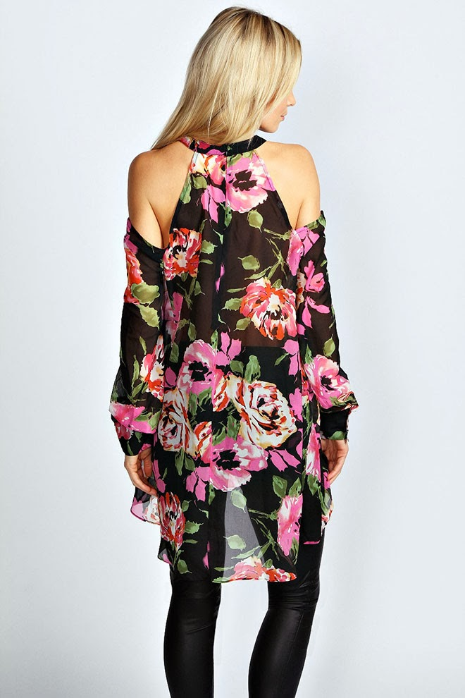 Sophia-High-Neck-Cut-Out-Shoulder-Floral-Blouse