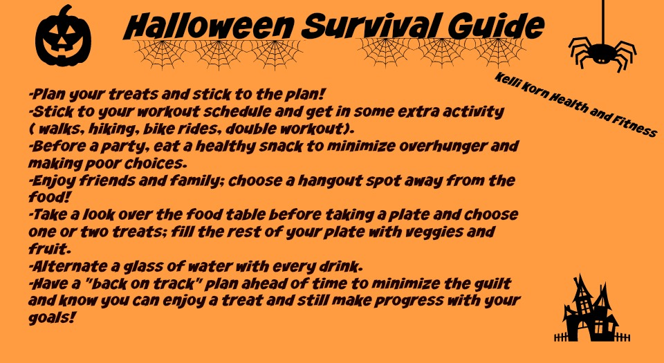 kelli korn health and fitness weeklyplan and halloween survival guide
