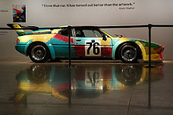 BMW M1 decorado por ANDY Warhol.